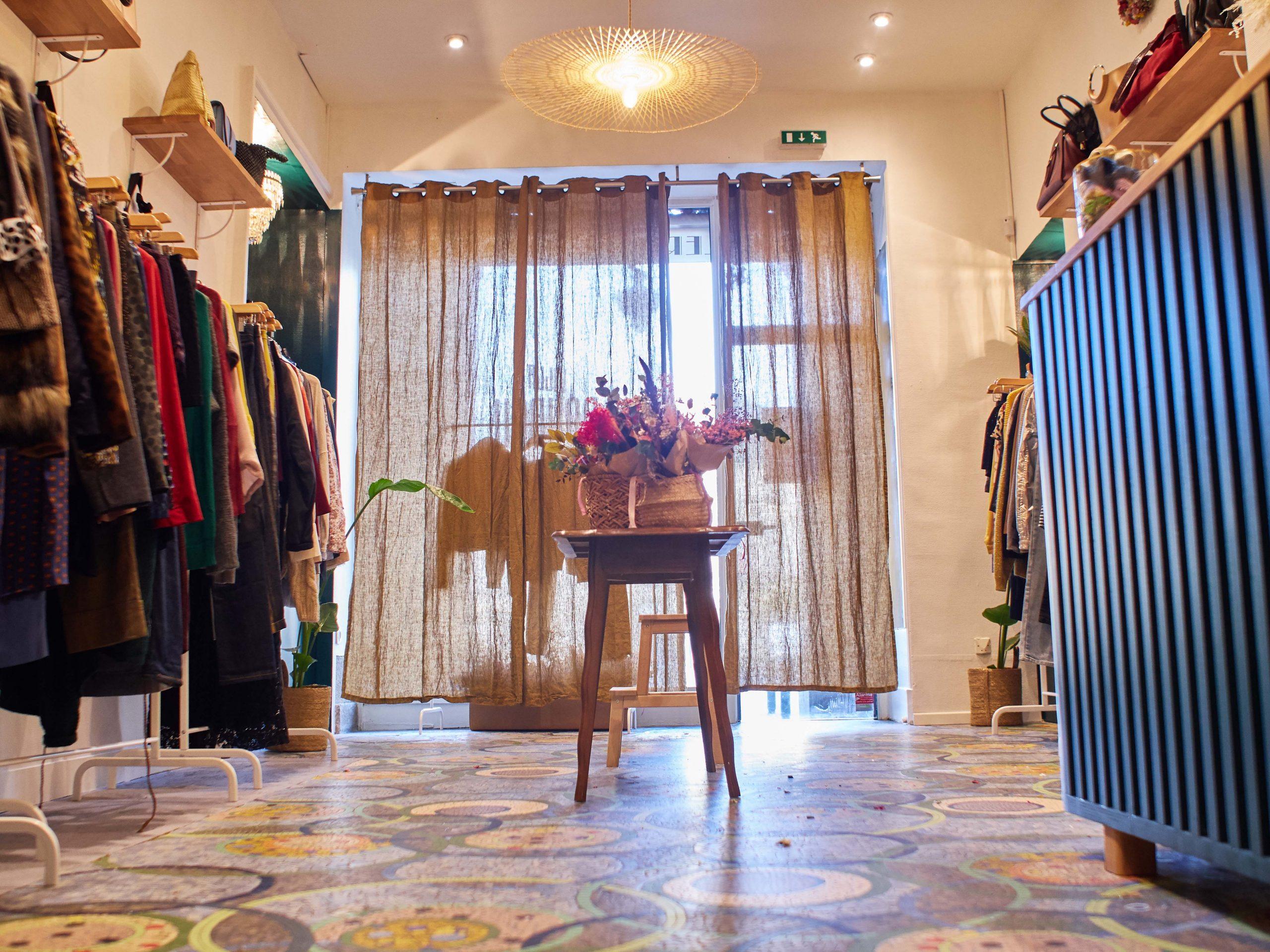 vue intérieur de la boutique villa boubou rennes