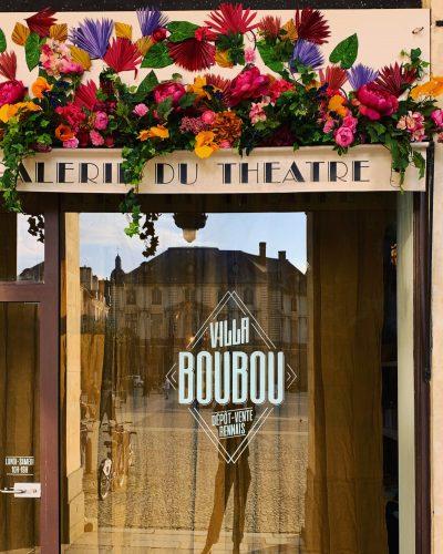 vitrine décorée de la boutique Villa boubou Rennes